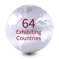 64 exhibiting countries