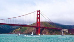 Photo: the Golden Gate Bridge in California