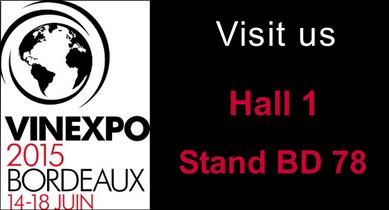 Champagne Bernard Remy Vinexpo 2015 bordeaux hall 1 stand bd78 visit