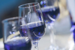 Photo: Blue wine