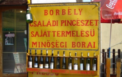 Photo: Wine shop in Hungary.