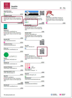 Graphic: advertising in catalogue - QR code, spirits label, individual advertising text