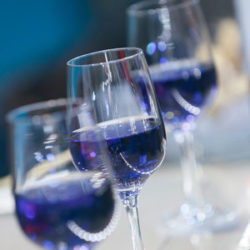 Photo: Glasses of blue wine