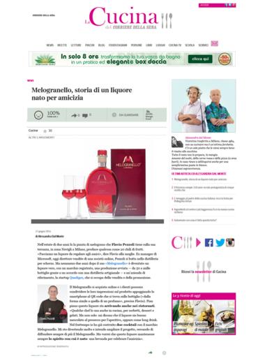 Press corriere della sera a new liqueur born for friendships prowein trade fair - Corriere della sera cucina ...