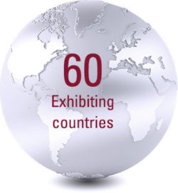 60 Exhibiting  countries