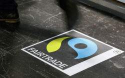 Photo: Sticker with Fairtrade logo