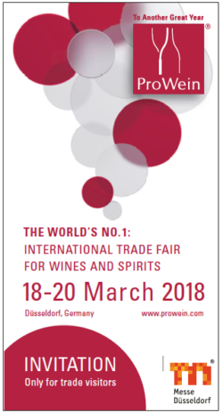 Invitation card ProWein 2018
