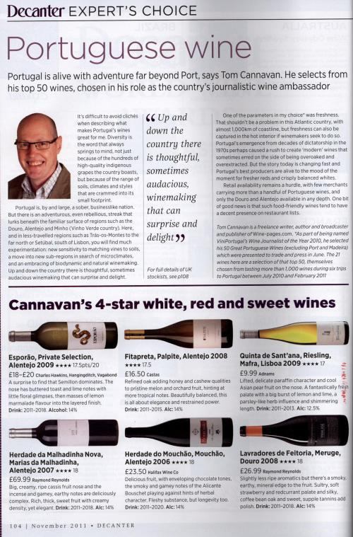 Palpite White got 17 5 at Decanter Magazine -- ProWein Trade Fair
