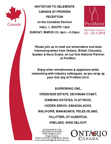 Invitation Canadian Reception