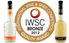 Wenneker Peach & Ginger with their IWSC medal