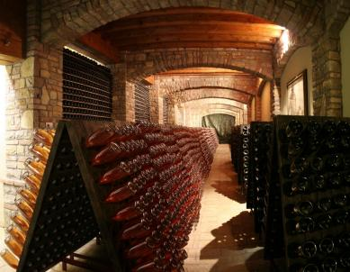 wine cellar with poupitres