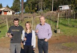 Photo: Celso Panceri with daughter: a long-established vintner family