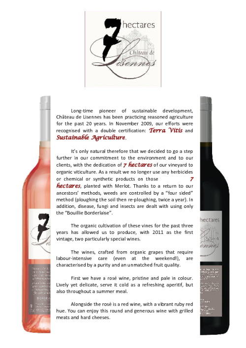 Château de Lisennes has 2 new wines! -- ProWein Trade Fair