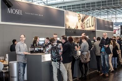 Mosel stand with 49 producers at ProWein. Photo: Ralf Kaiser