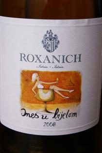 Modern and artistic wine label made by Roxanich. Source: Thomas Brandl