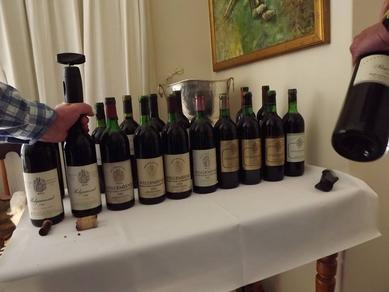 Welgemeend 19 year vertical tasting in 2014 - told its the best wine these connoisseurs have ever tasted!!
