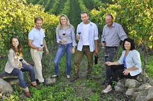 Lidio Carraro's family with Monica Rossetti, chief winemaker in the center of the picture
