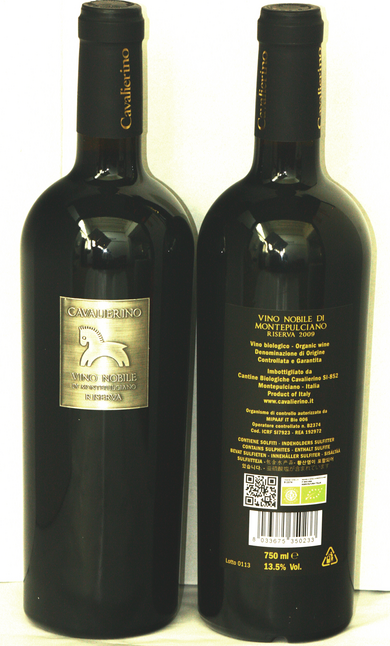 Example of Metal label wine family