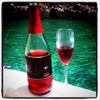 Our Cava Brut Rosé in Ibiza.