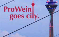 "Photo: Logo ""ProWein goes City"" and TV tower Düsseldorf"